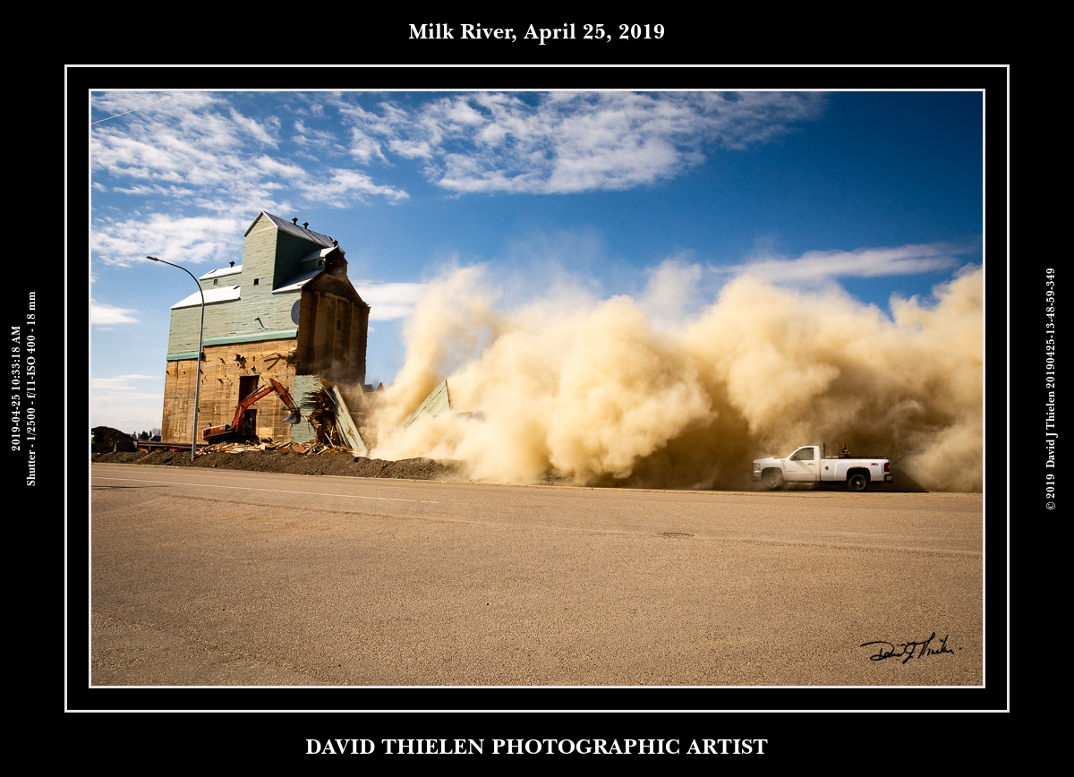 Milk River Elevator Demolition